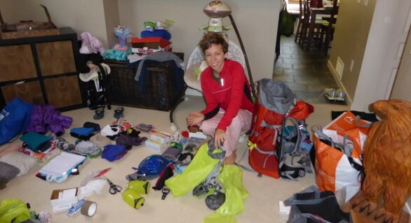Packing for our RTW adventure