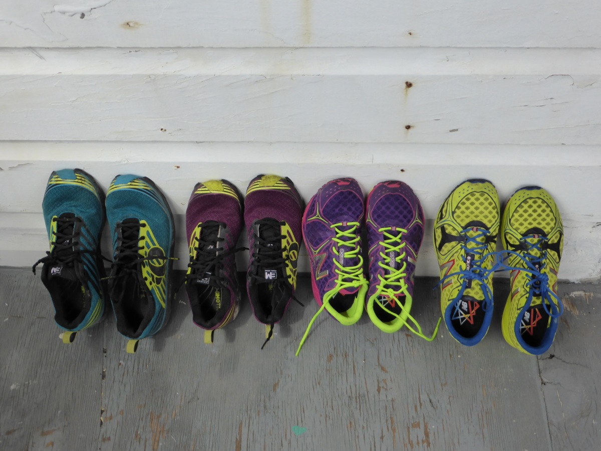 Some of our running shoes...