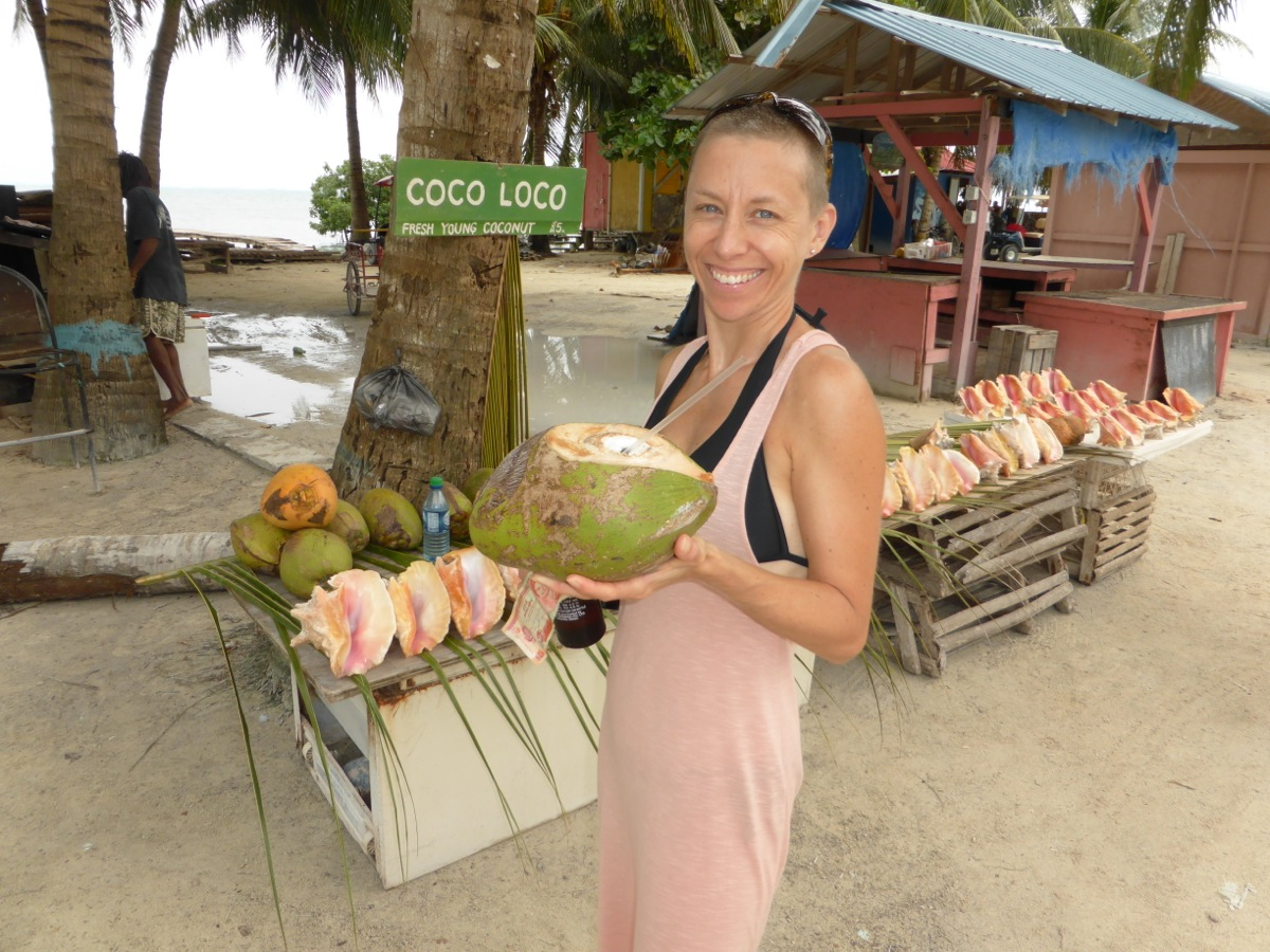 Coco Loco - the best coconut stand on Caulker!