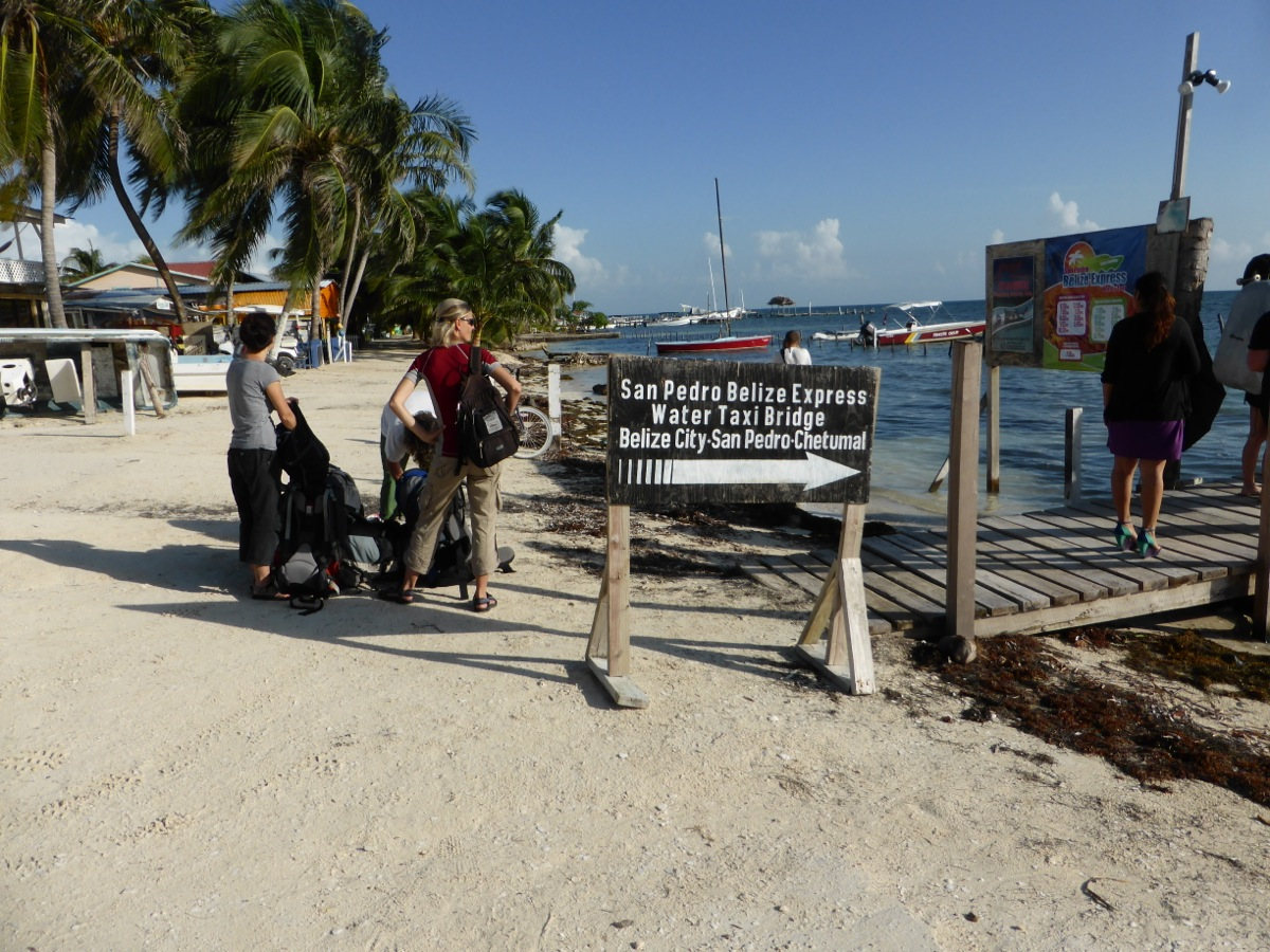 Time to leave Caye Caulker via ferry to Belize City