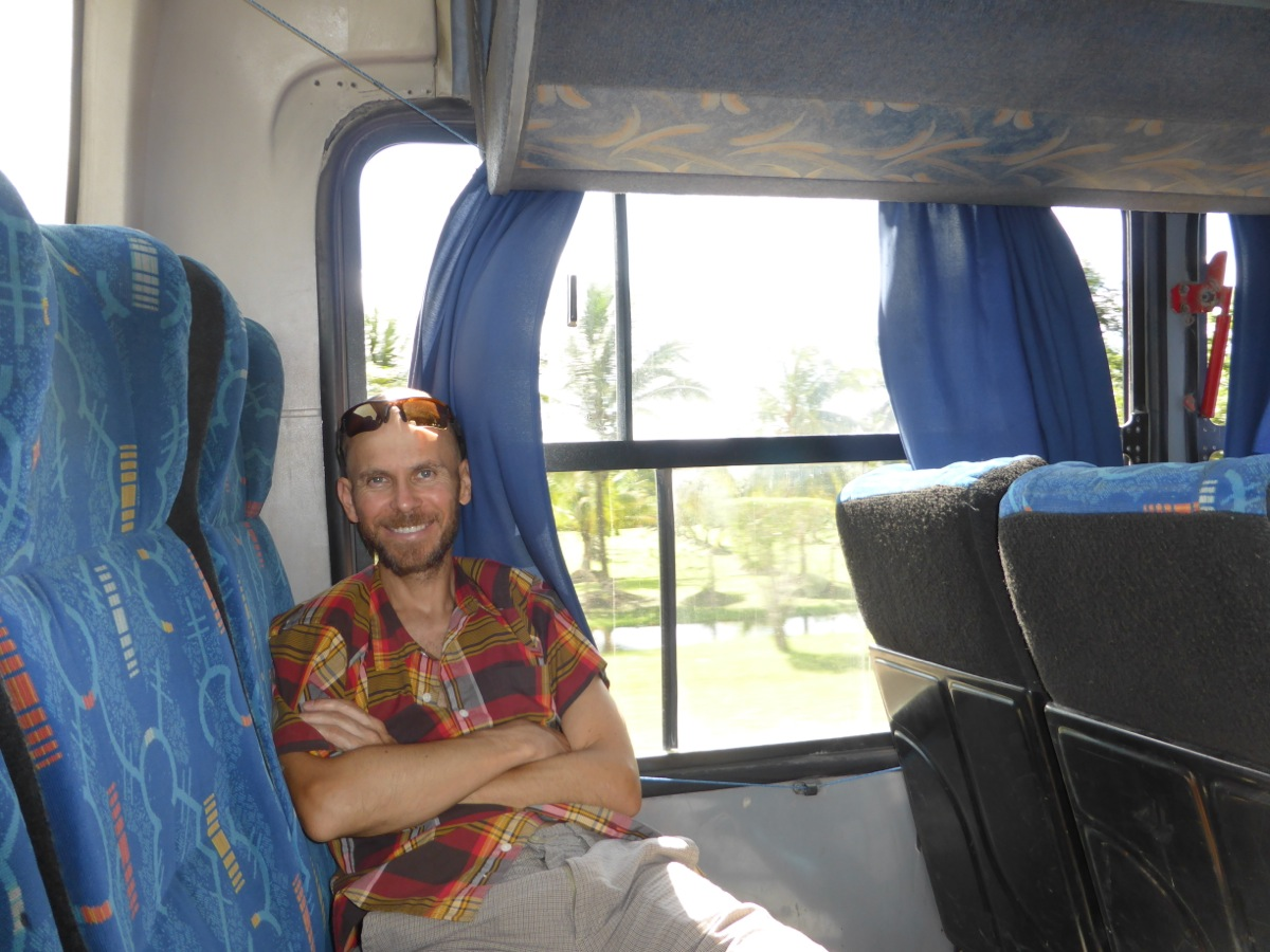 On the bus to Flores from Belize City