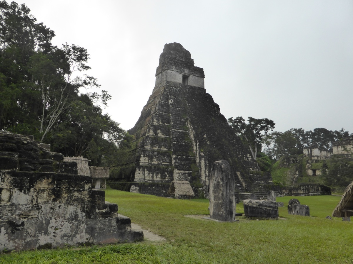 Structures in the Grand Plaza at Tikal