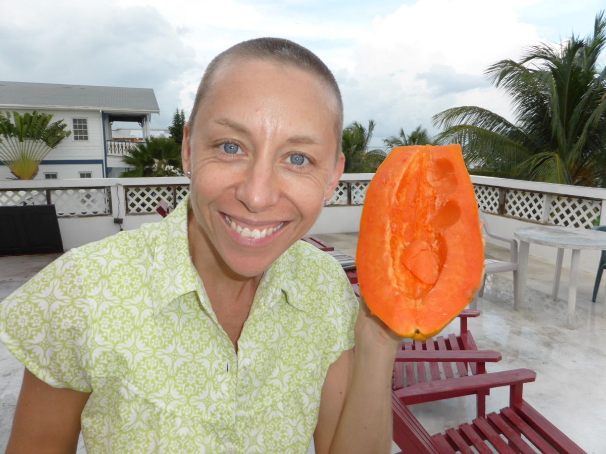A papaya almost as big as my head for $1.50! Awesome!