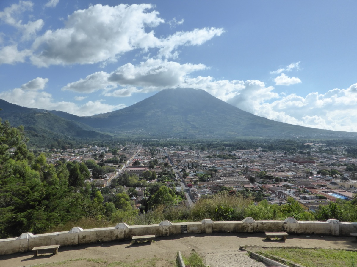 View overlooking the town from Cerro de la Cruz