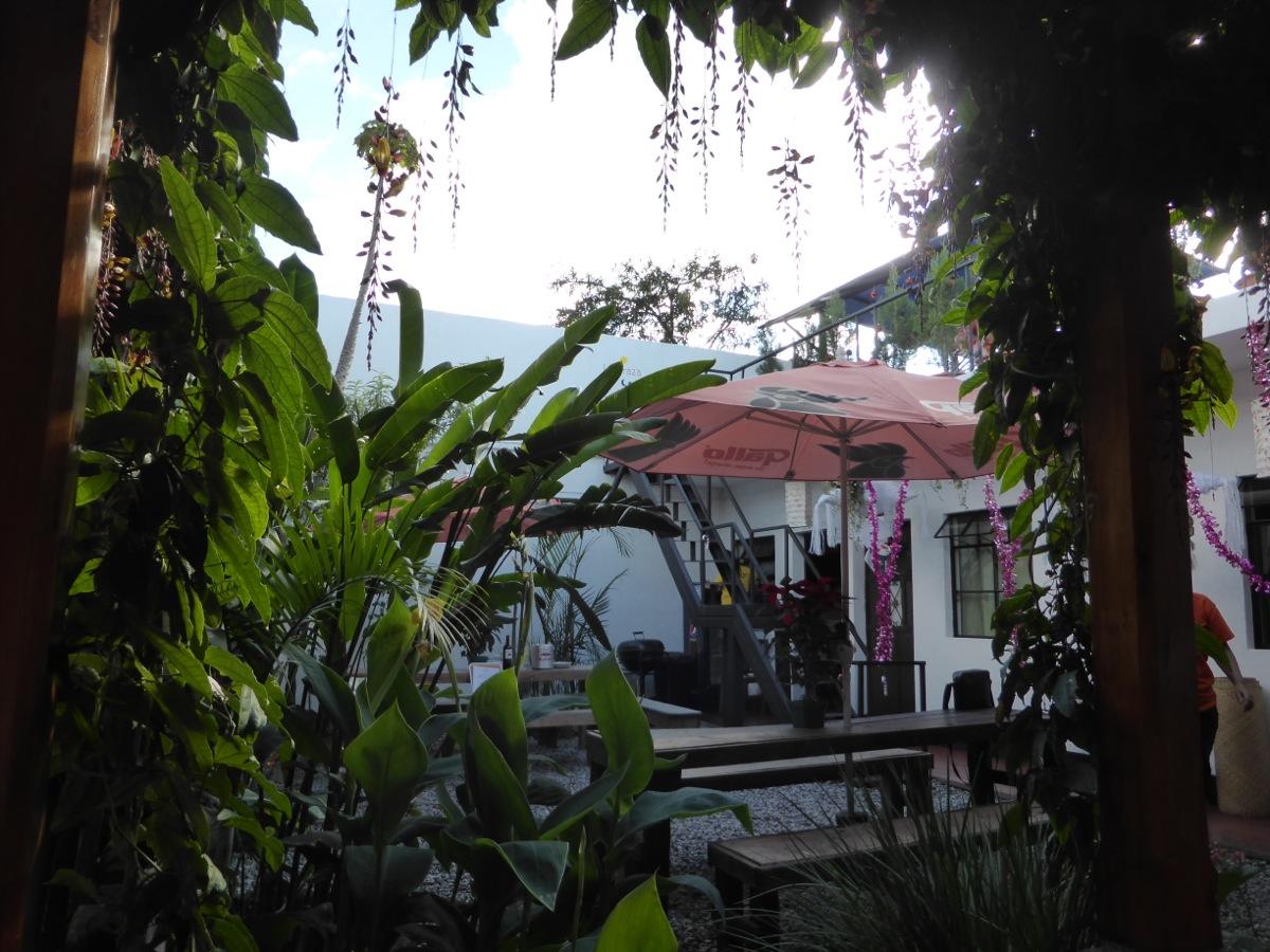 Courtyard at Hostal Holistico