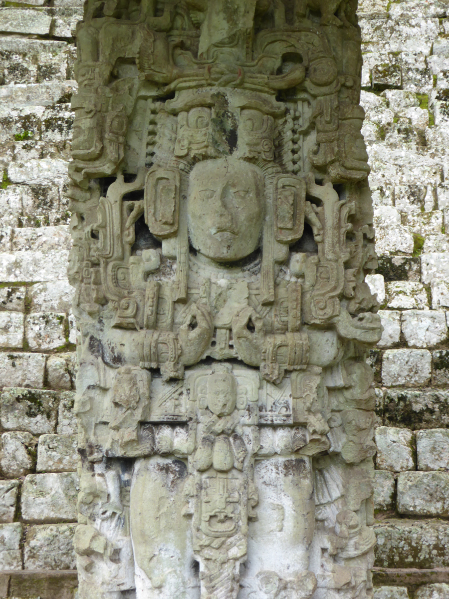 One of the many magnificent examples of carved stellae (columns/pillars) on the site