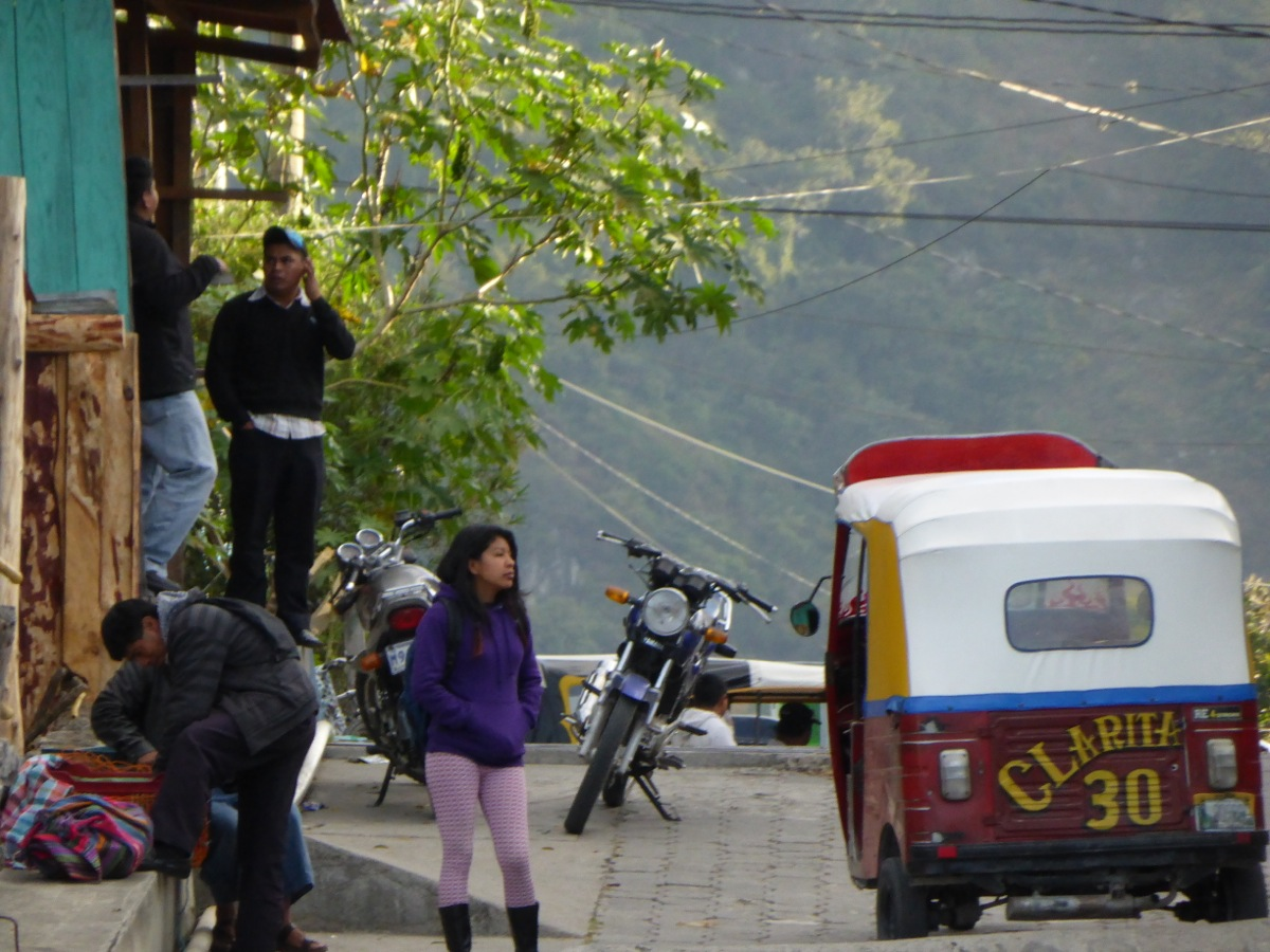 Typical street scene with tuk-tuk