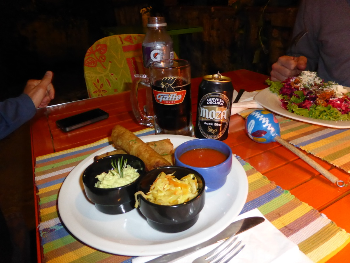 Guatemalan meal at Sabe Rico in Antigua