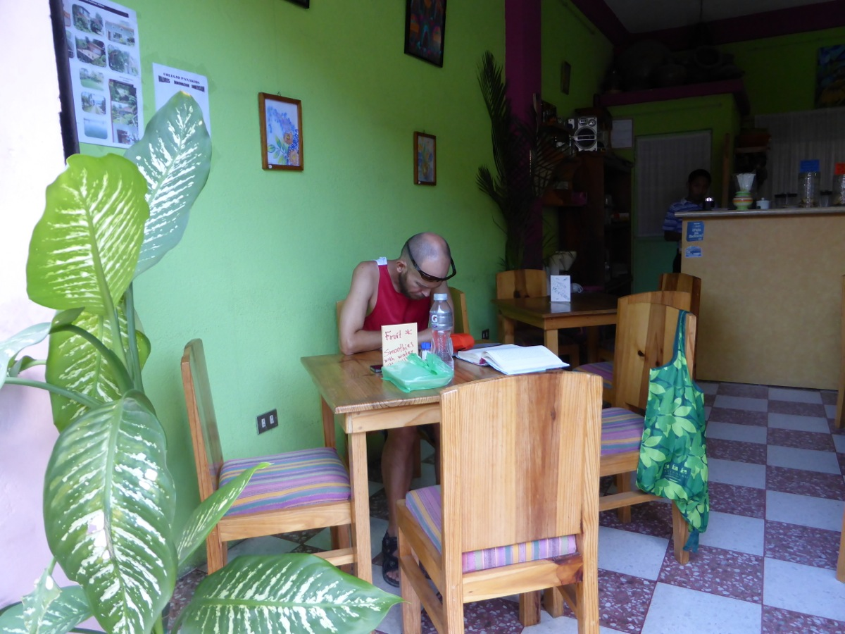 Pitaya Juice Bar in Panajachel - banana, mango and papaya smoothies - yum!