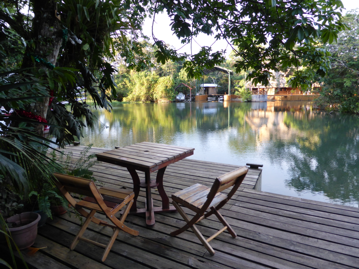 The deck at Hotel Kangaroo - perfect for a cold sundowner after a long travel day!
