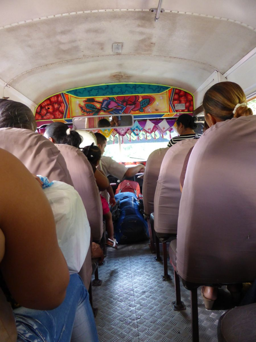 Chicken bus to Puerto Lindo