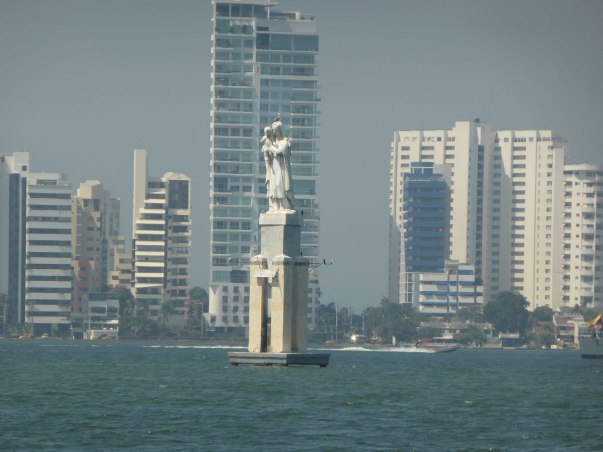 Entering Cartagena Harbor