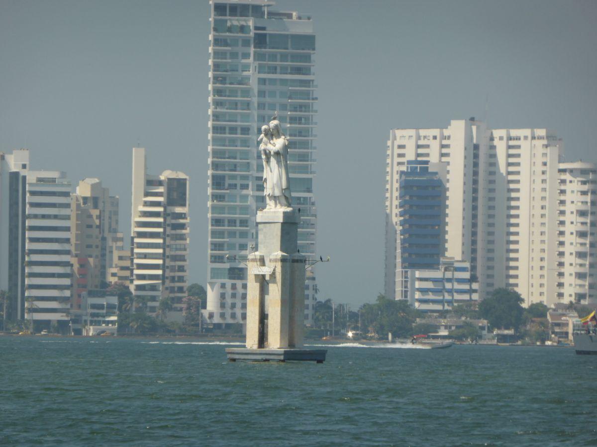 Entering Cartagena Harbor