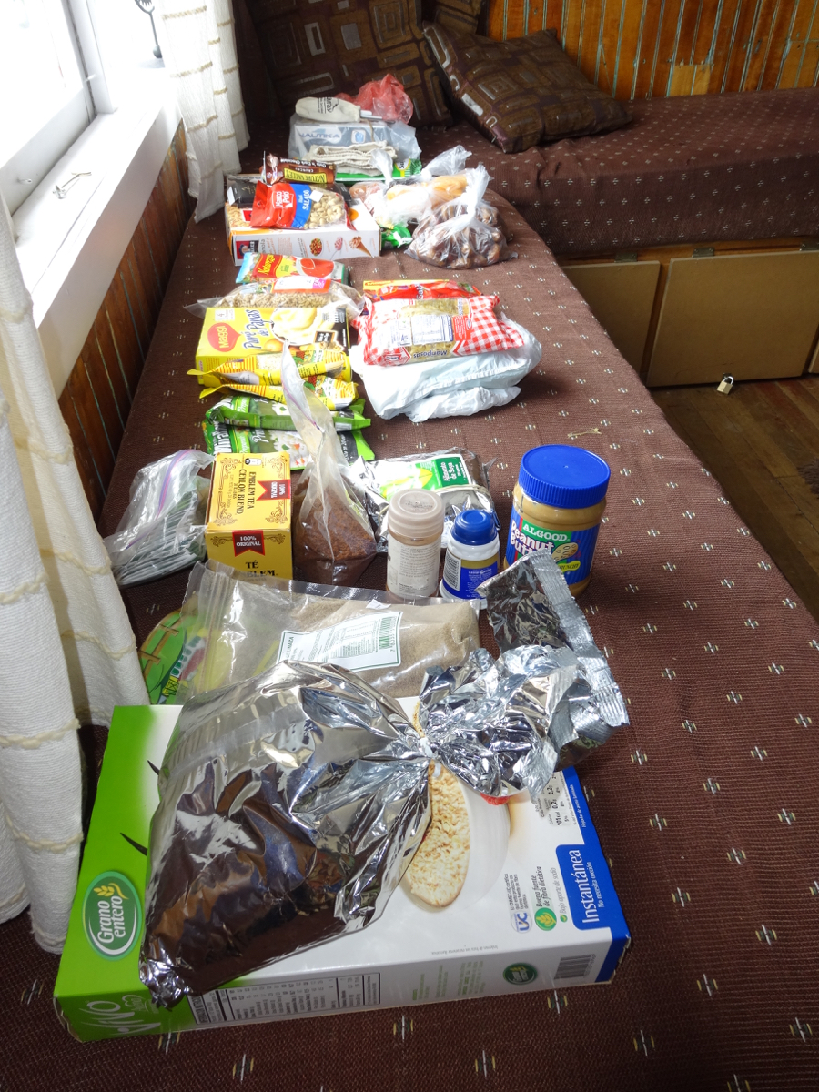 Our food rations for our 6-day trek