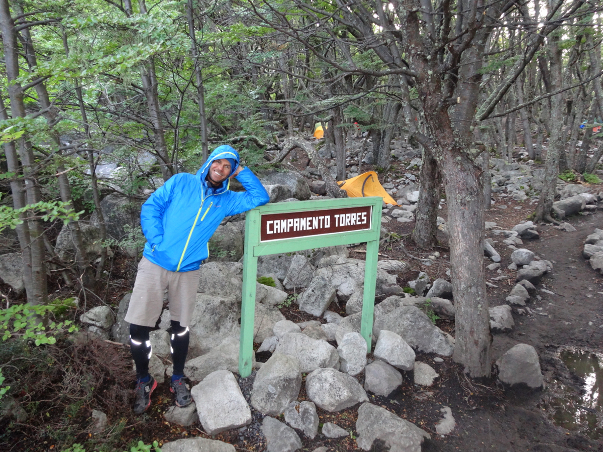 Our first night on the trail at the free campsite at Campamento Torres