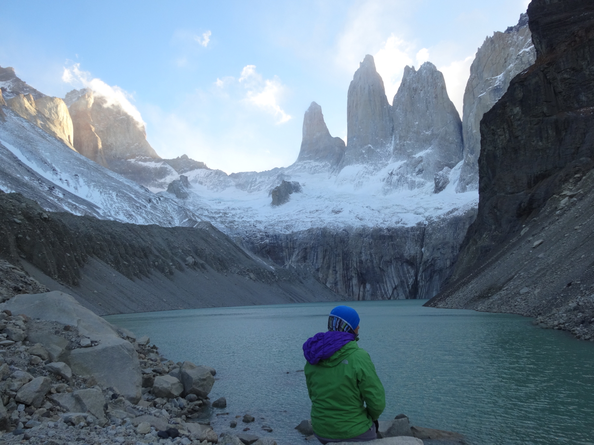 Quiet time in the presence of the majestic Torres del Paine