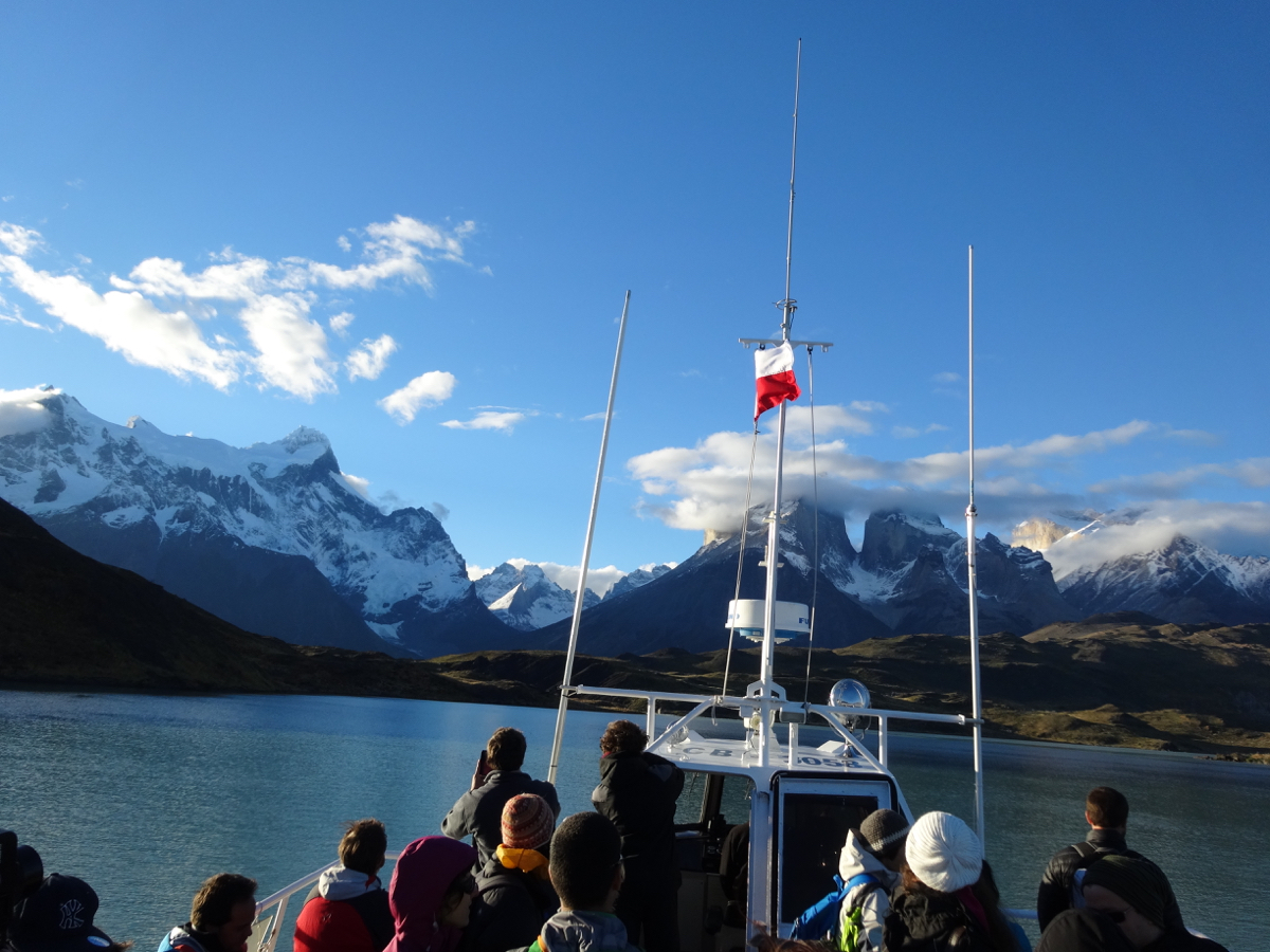 Our last views of the majestic mountains of Torres del Paine from the ferry - until next time!