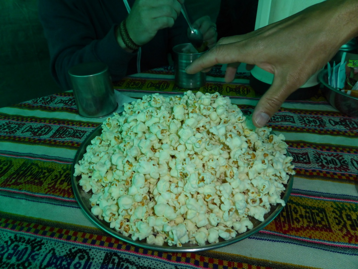 Freshly popped, hot popcorn - amazing!