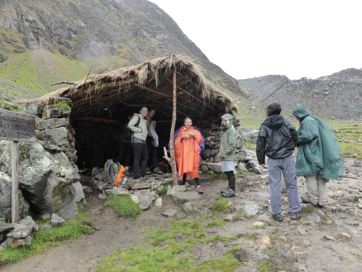 Rain and ponchos are quite common in the mountains of Peru!