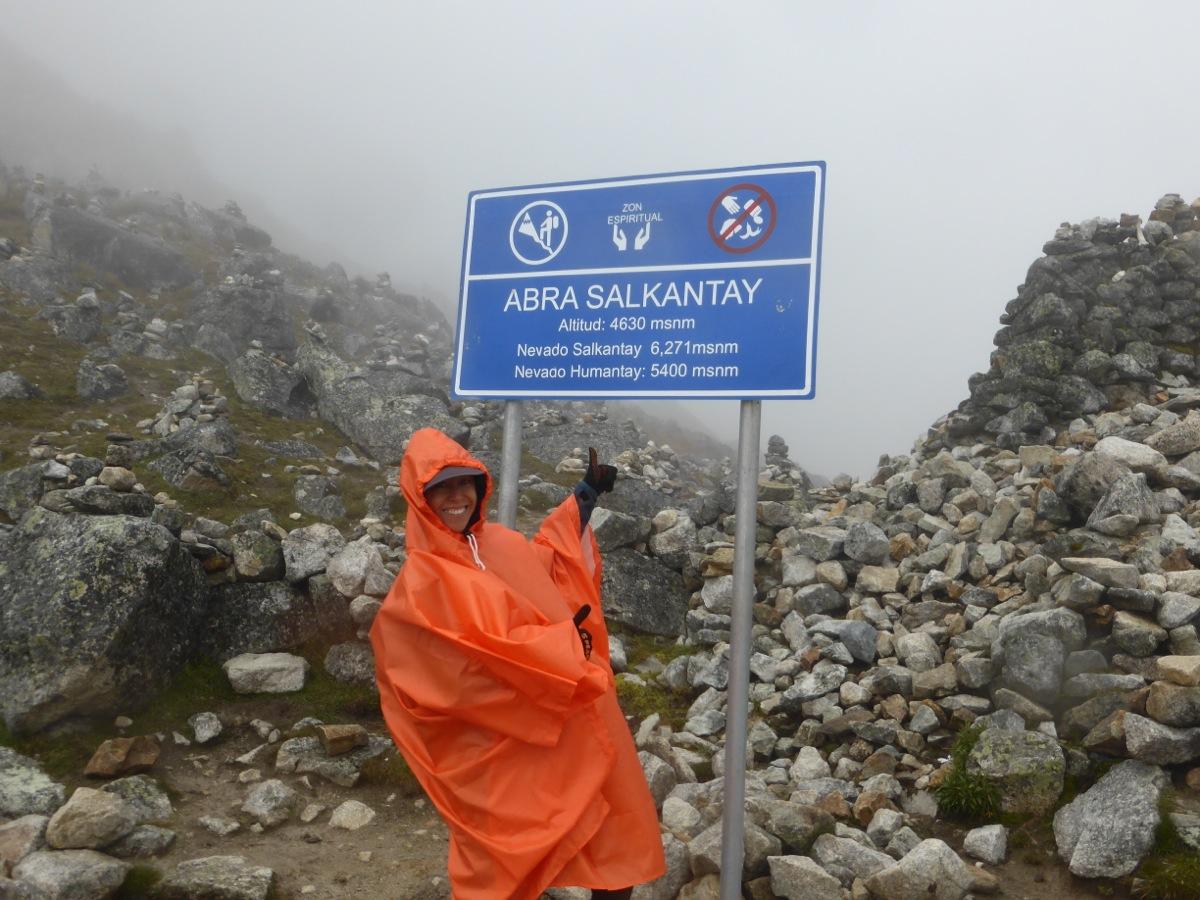 At the peak of Salkantay