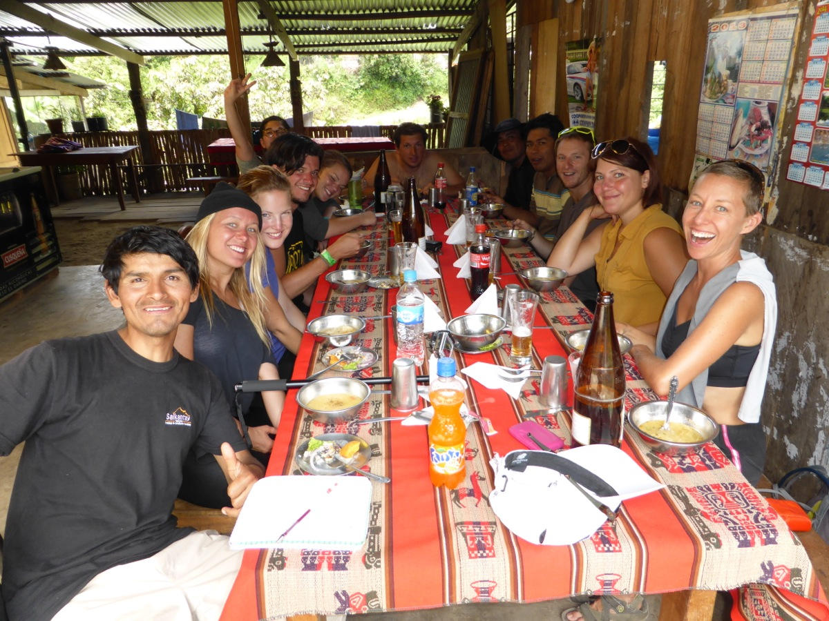 Another wonderful meal and many laughs (with a well earned cerveza of course!)
