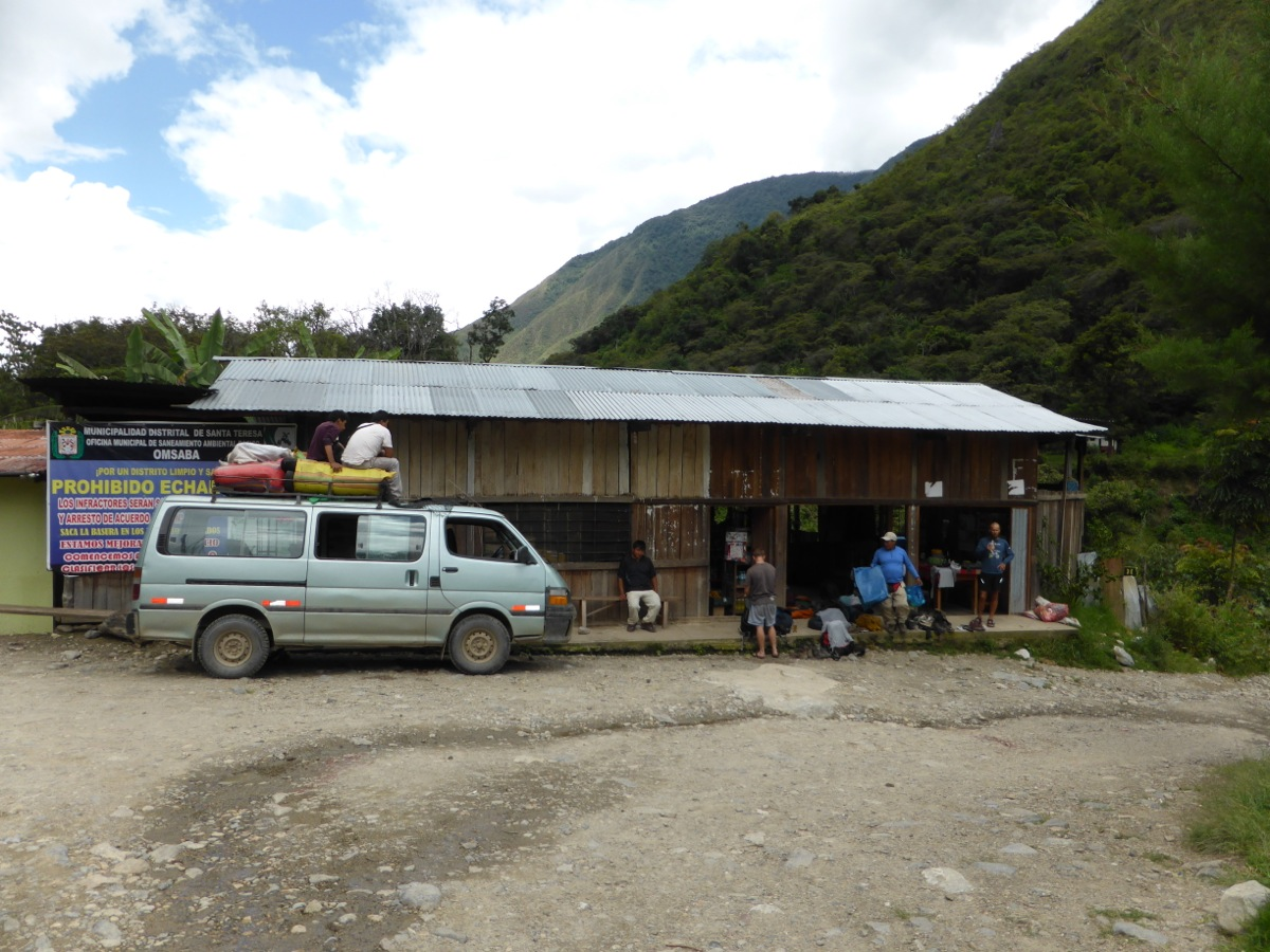 Our lunch stop and minibus shuttle pick up location