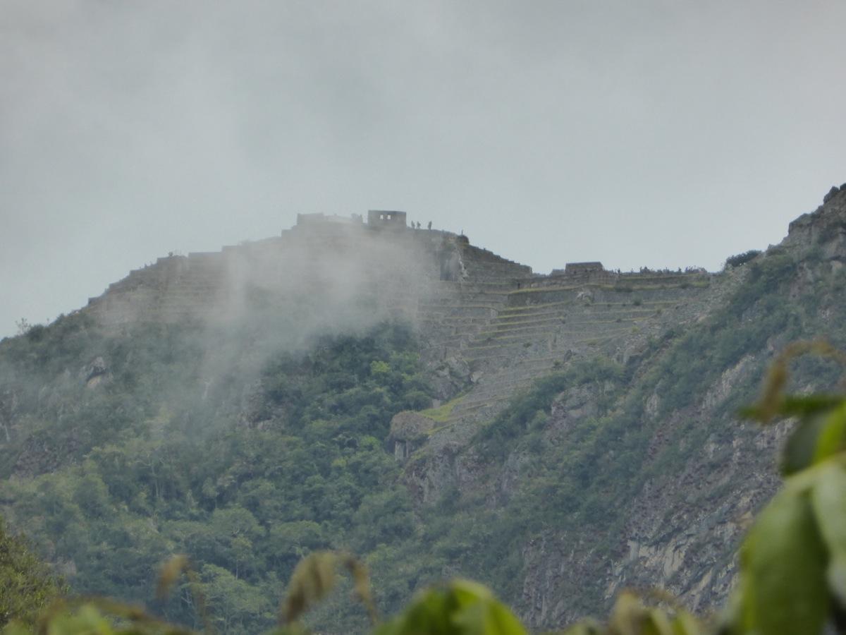 Our first glimpse of Machu Picchu!