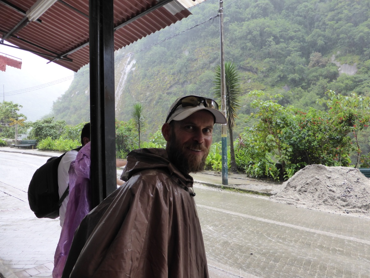 Finally we made it to Aguas Calientes in the pouring rain