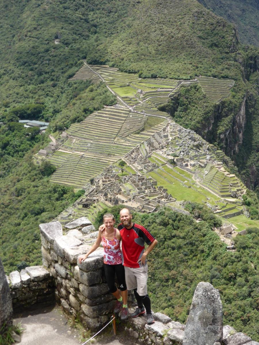 View over Machu Picchu from Waynapicchu