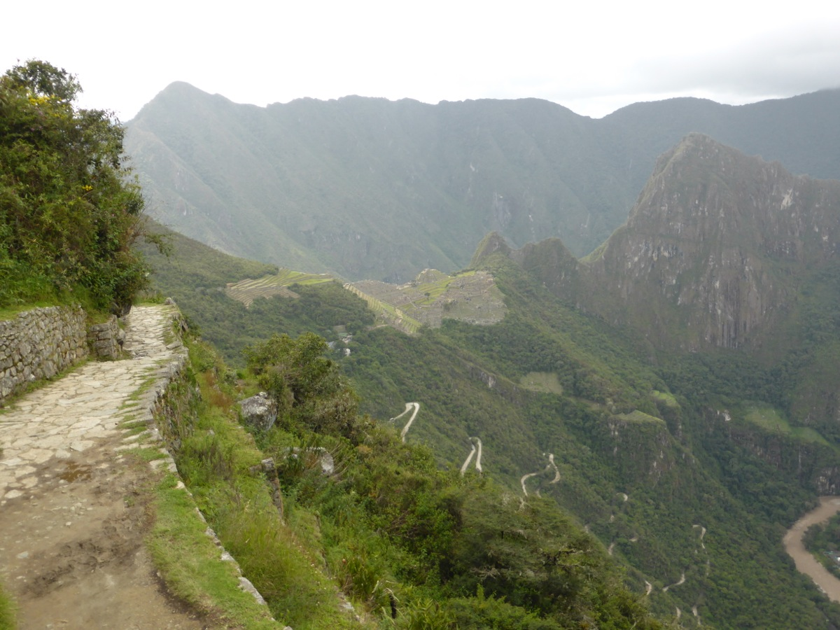 The Inca Trail leading to the Sun Gate