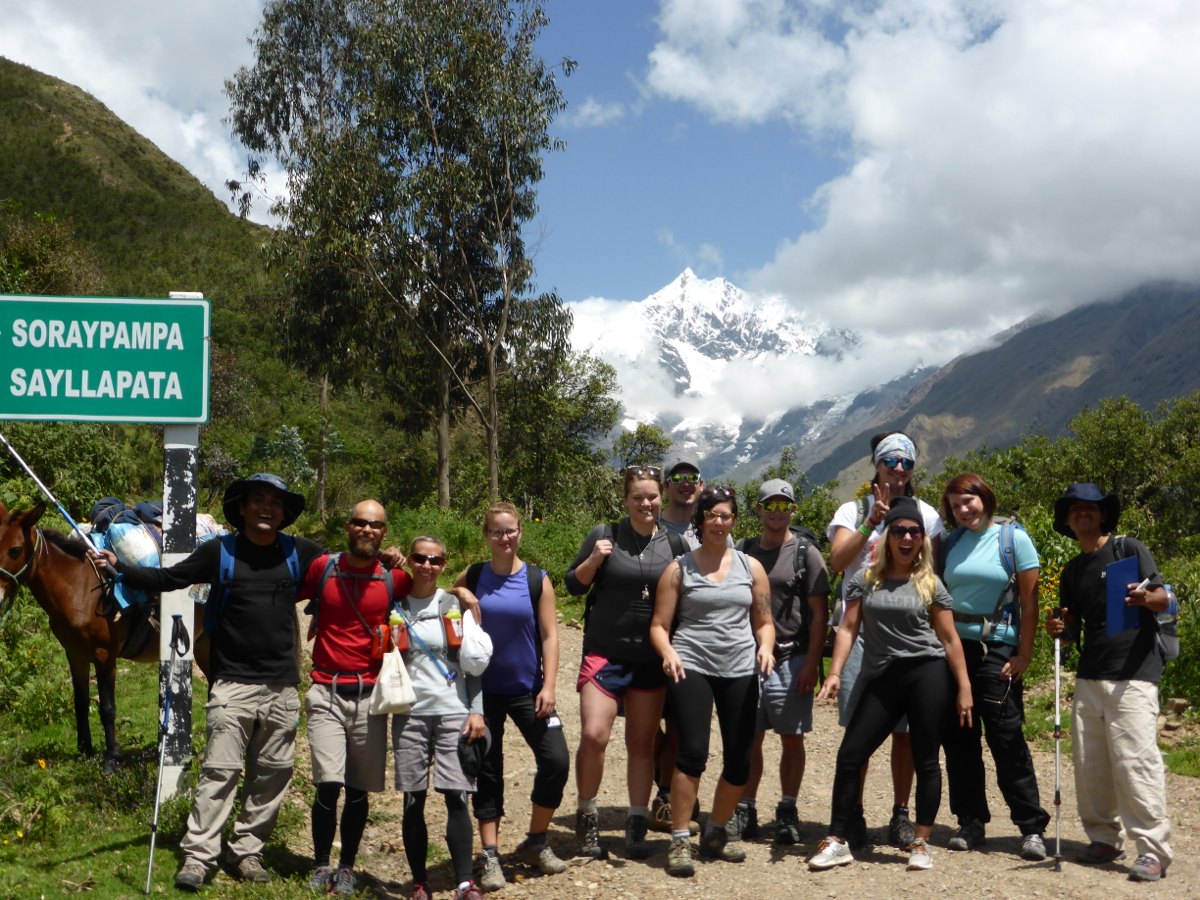 Our trekking group and crew