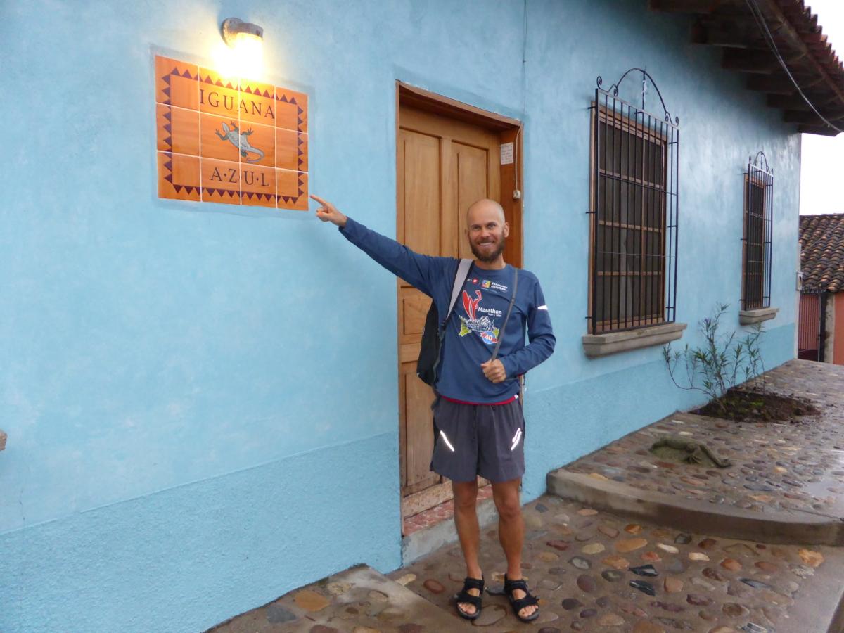 Richard outside The Blue Iguana