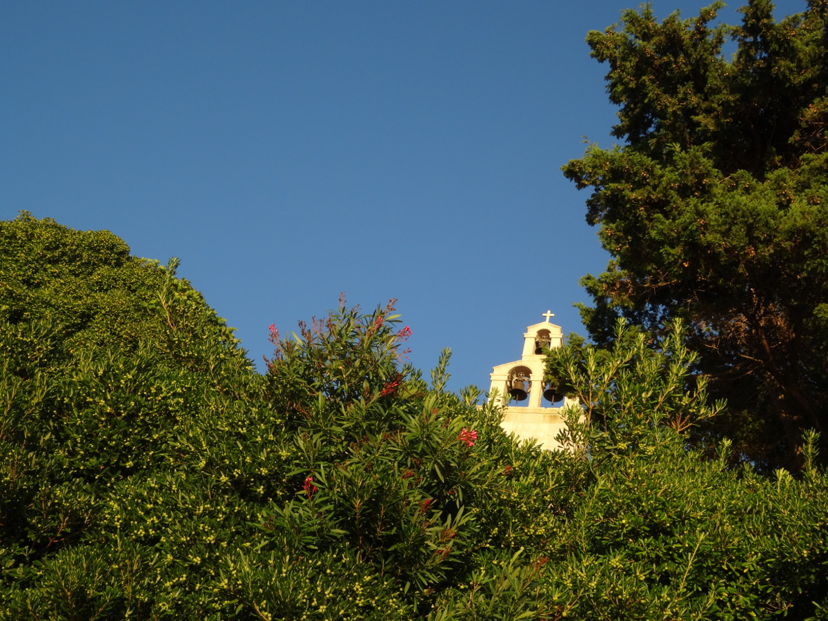 A little church perched on the cliff above Dance Beach