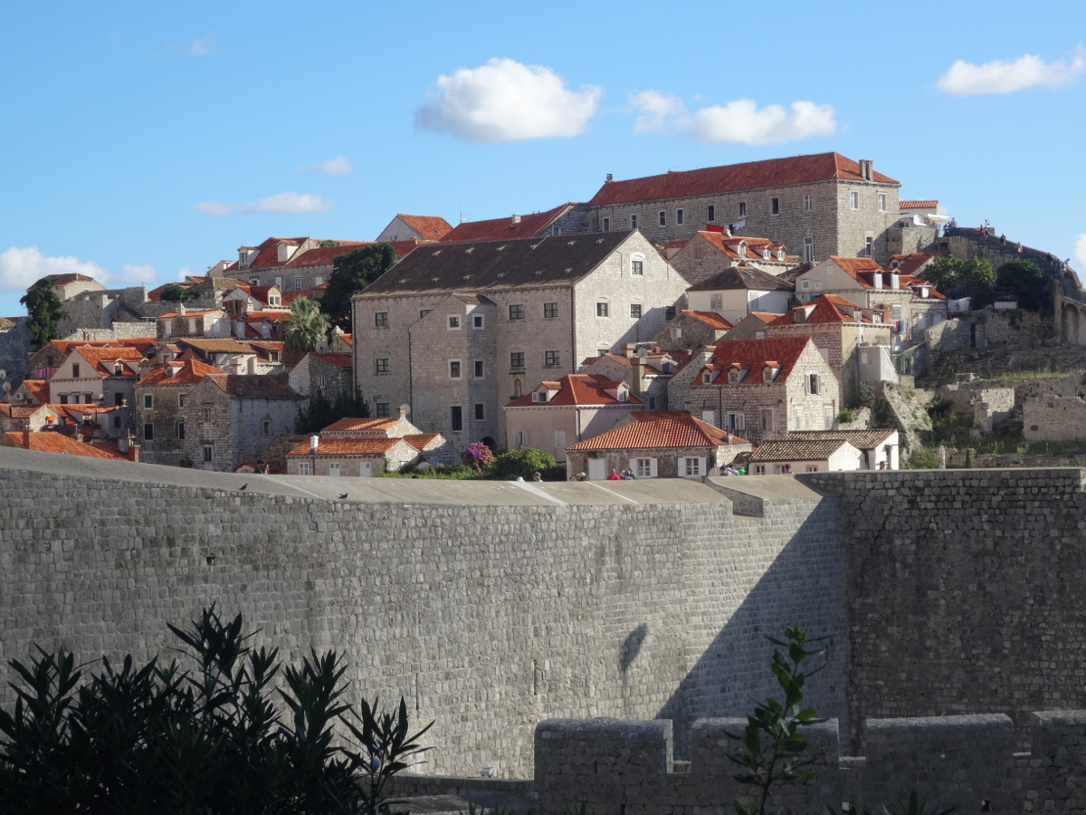 The old town within its walled perimeter