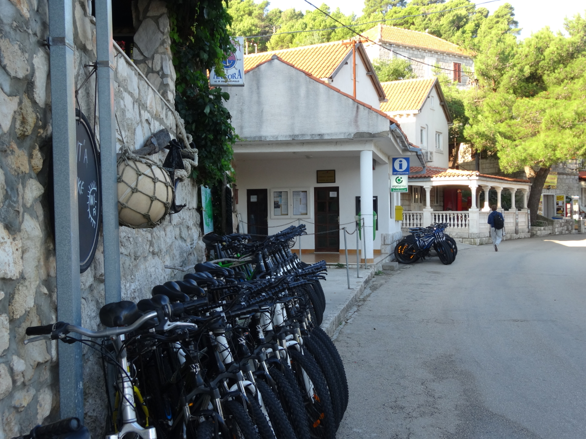 Bike rentals are everywhere on the island