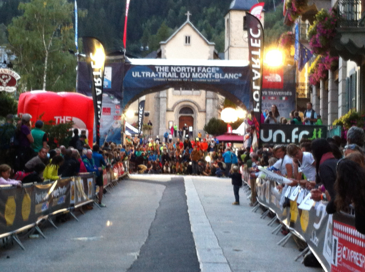 UTMB races finish line
