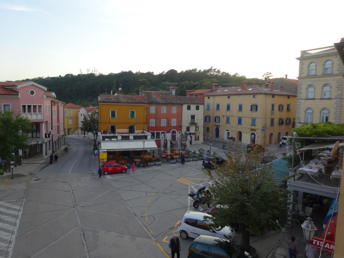 Pizzeria Napoli on the main square in Labin on the Istrian Peninsula
