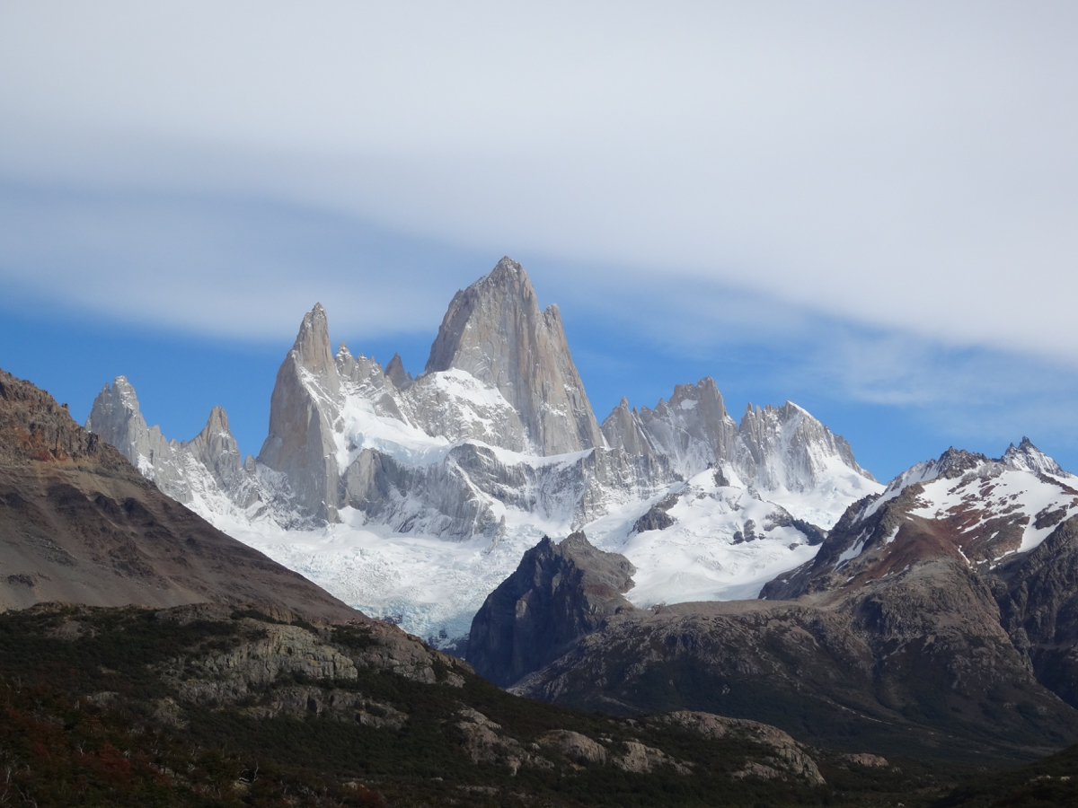 The view of Mount Fitz Roy in the distance - time to get a little closer!