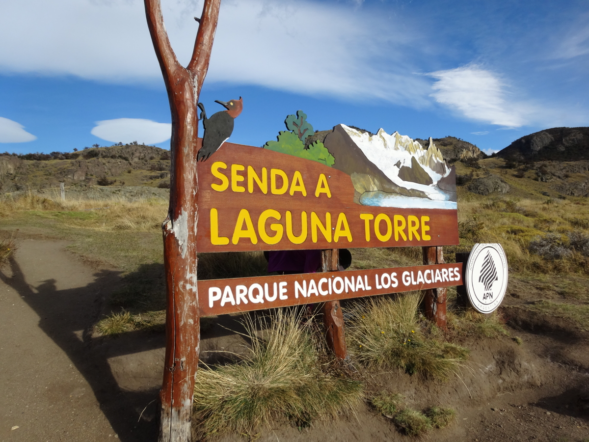 The Laguna Torre trailhead just above the town