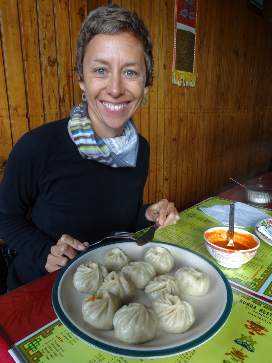 Vegetarian momos at Kunga - well worth the wait!